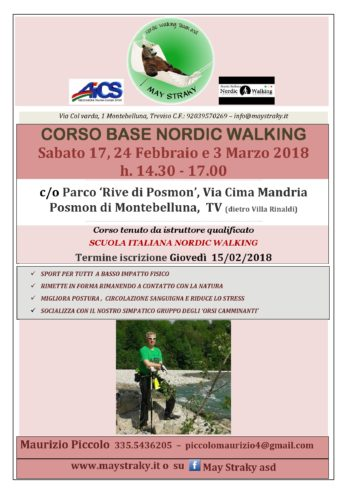 May Straky Asd _Corso base Nordic Walking Piccolo Feb 2018