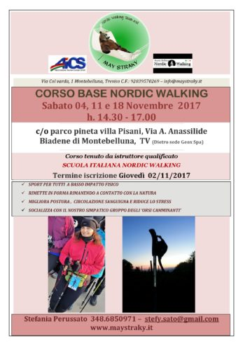 May Straky Asd _Corso di base Nordic Walking Novembre 2017